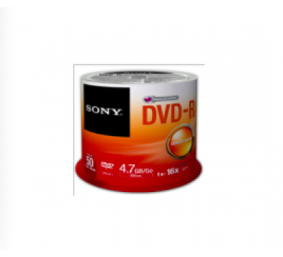 Dvd-r en torre sony 50 piezas