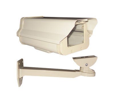 Gabinete de aluminio para exterior con apertura vertical. incluye soporte de aluminio