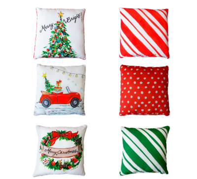Set de 3 cojines navideños