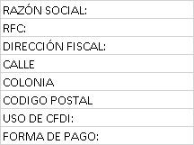 Datos fiscales