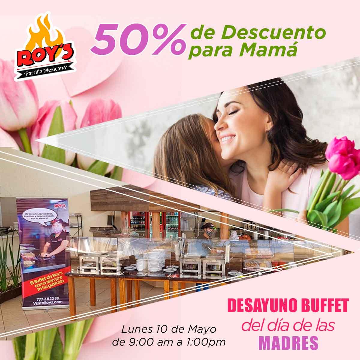 Buffet 10 de Mayo - Reserva tu Mesa con el 50%