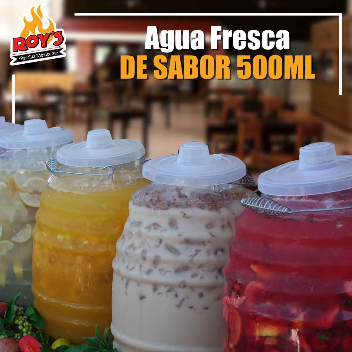 Aguas Frescas de Sabor 500ml.