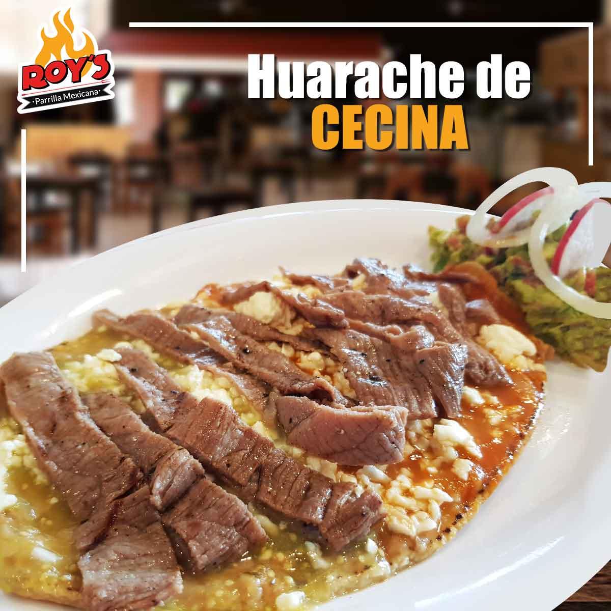 Huarache con Cecina 100gr