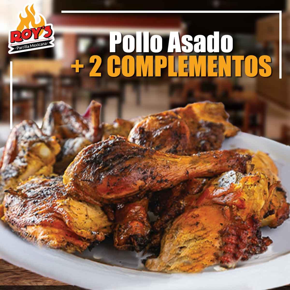 Pollo Asado al Carbón + 2 Complementos