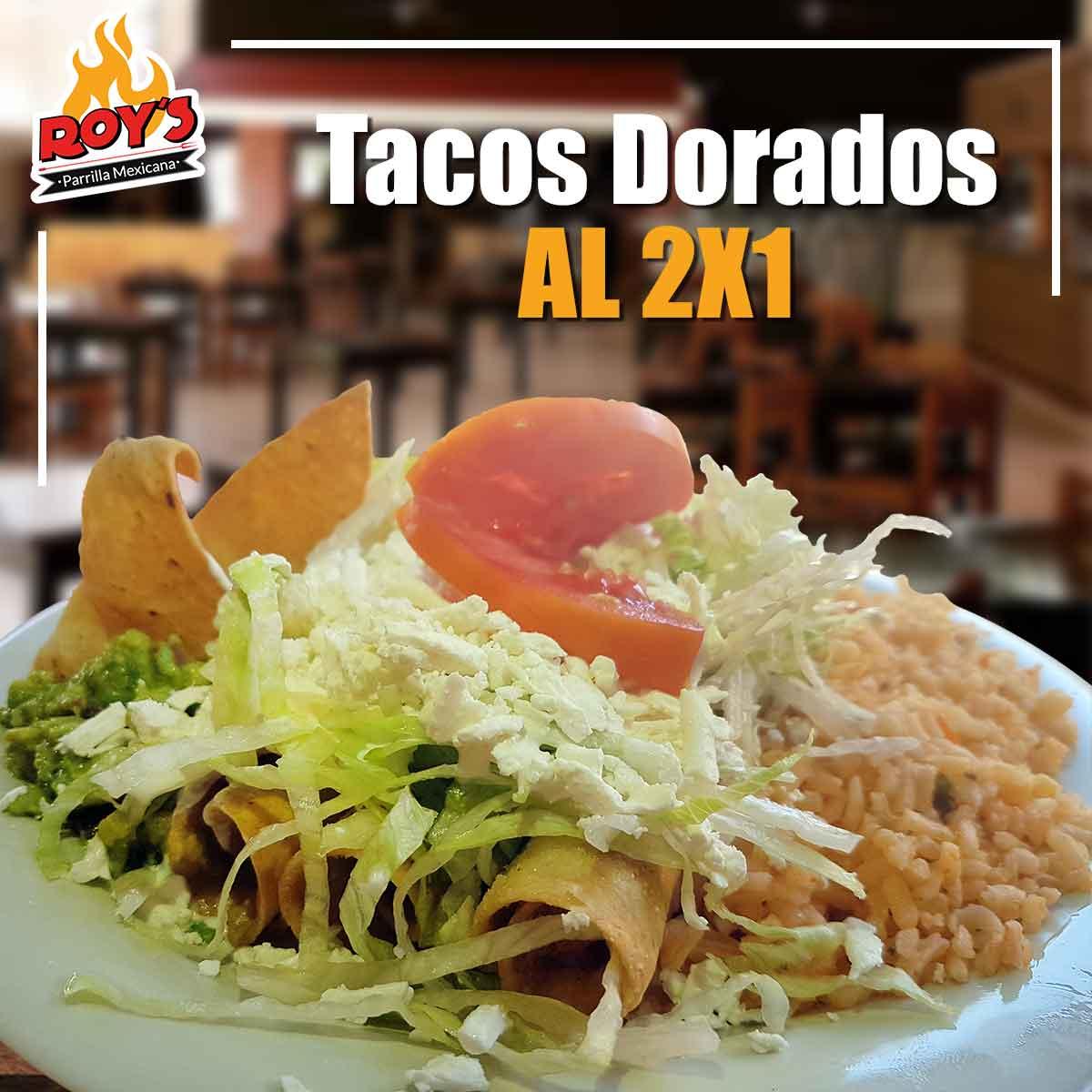 Tacos Dorados 2x1