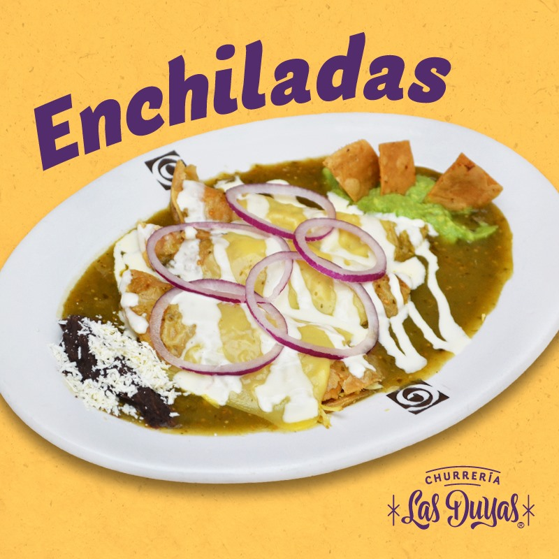 Enchiladas Verdes O Rojas Con Pollo (3 Pzas)