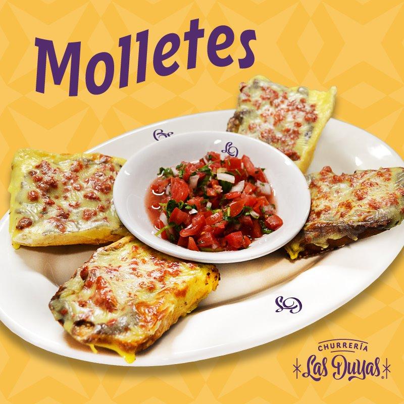Molletes Con Jamón, Salami O Chorizo (4 Pzas)