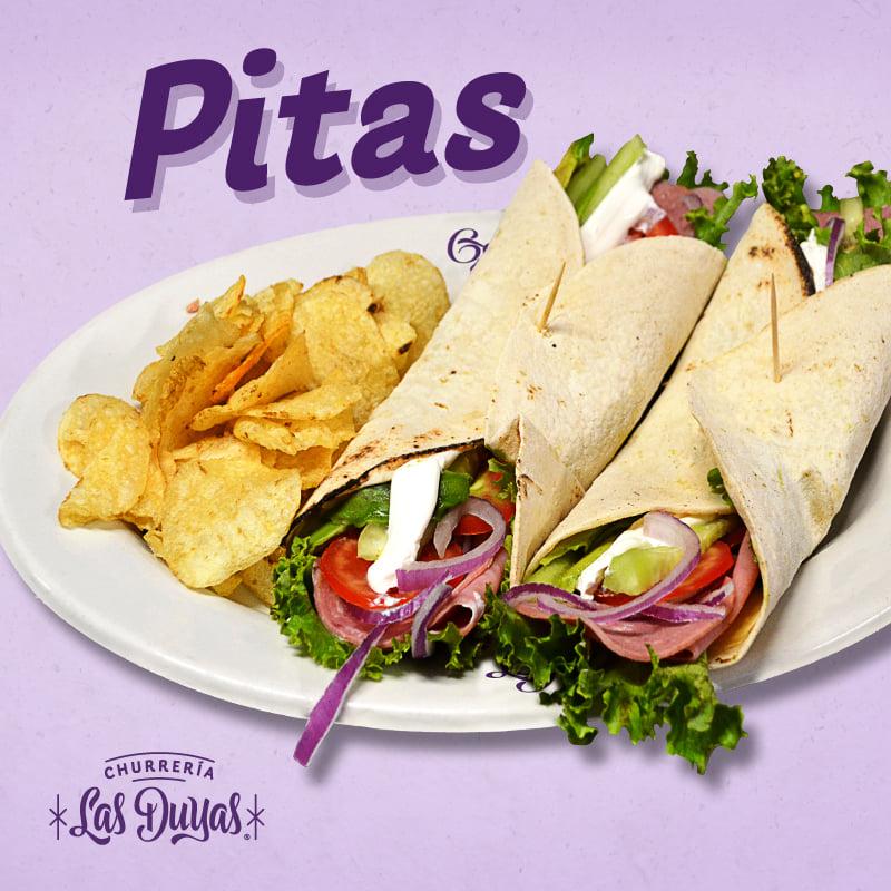 Pitas Vegetariana (Champiñones Y Espinacas